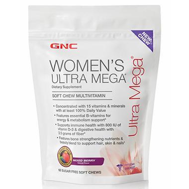 GNC Women's Ultra Mega Sugar Free Soft Chews - 60 ct.