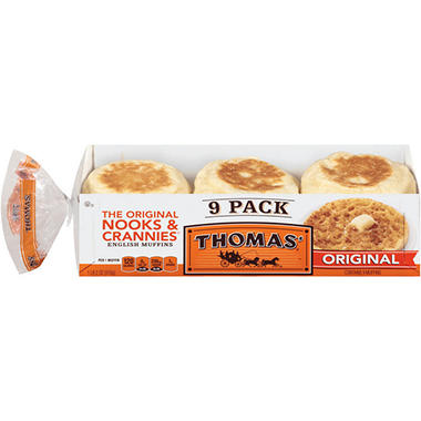 Thomas' Original English Muffins (18 oz. each, 9 pk ...