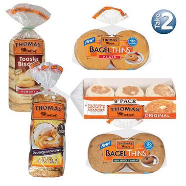 Take 2 Thomas Breakfast Muffins/Bagels