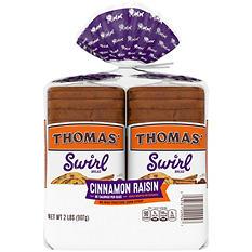 Thomas'  Cinnamon Raisin Swirl Toasting Bread (2 Pk.)