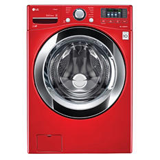 LG 4.5 cu. ft. Ultra-Large Capacity with Steam Technology - WM3670HRA Wild Cherry Red