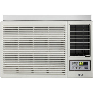 LG Electronics 12,000 BTU Window-Mounted Air Conditioner with Supplemental Heat