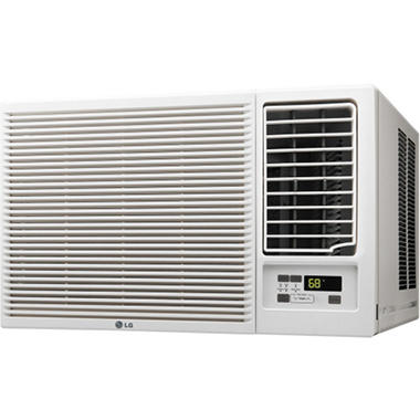 Lg 7 500 btu 115v window mounted air conditioner with for 115v window air conditioner with heat