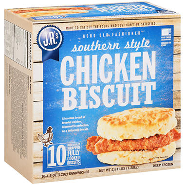 J.R.'s Southern Style Chicken Biscuits - 4.5 oz. - 10 ct.