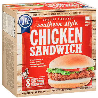 J.R.'s Southern Style Chicken Sandwiches - 6 oz. - 8 ct.