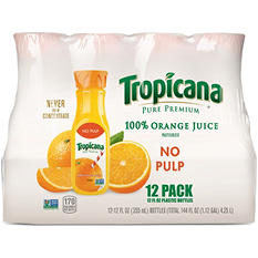 Tropicana Pure Premium 100% Orange Juice (12 oz. bottle, 12 pk.)
