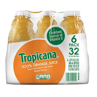 Tropicana 100 Orange Juice 6 32oz Sam S Club