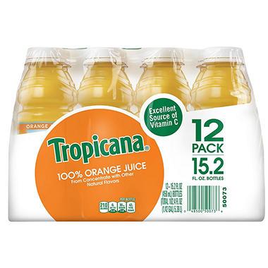 Tropicana® Orange Juice - 12/15.2 oz. bottles