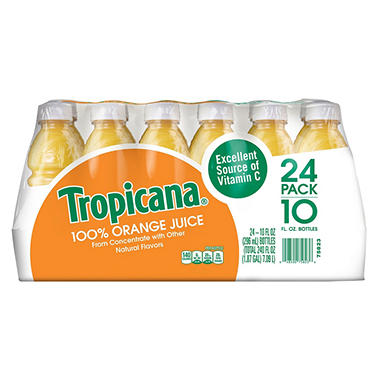 Tropicana 100% Orange Juice - 24/10 oz. bottles