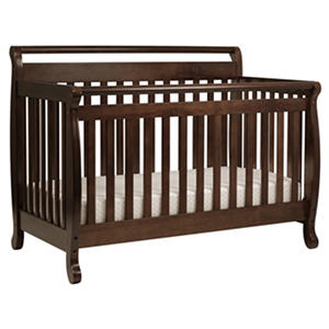 DaVinci Emily 4-in-1 Convertible Crib with Toddler Rail - Espresso