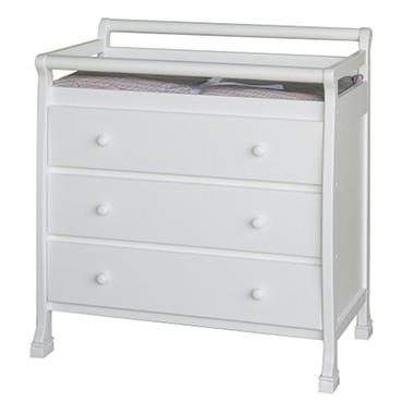 Cadence 3 Drawer Changer - White