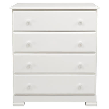 Cadence 4 Drawer Dresser - White