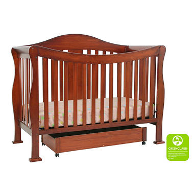 Parker 4-n-1 Convertible Crib - Cherry