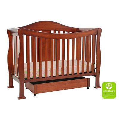 DaVinci Parker 4-n-1 Convertible Crib with Toddler Rail - Cherry