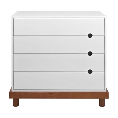 Babymod Olivia 4-Drawer Dresser, Two Tone