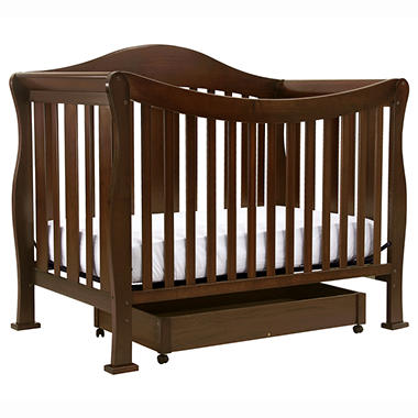 DaVinci Parker 4-n-1 Convertible Crib with Toddler Rail - Coffee