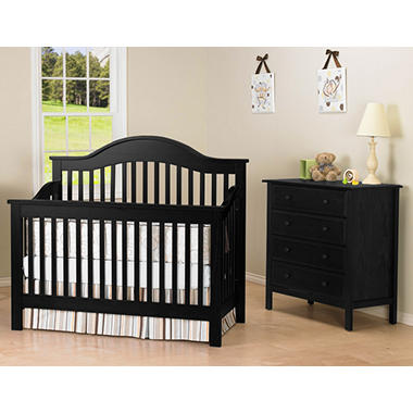 DaVinci Jayden 4-in-1 Convertible Crib with Toddler Bed Conversion Kit, Ebony
