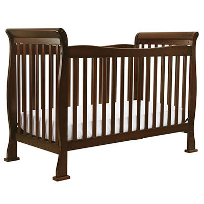 DaVinci Reagan 4-in-1 Convertible Crib with Toddler Rail, Coffee