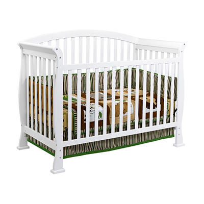 DaVinci Thompson 4-in-1 Convertible Crib with Toddler Rail, White