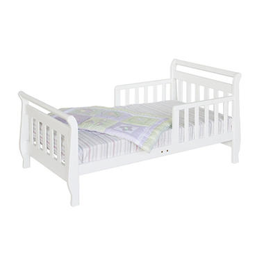 Sleigh Toddler Bed - White