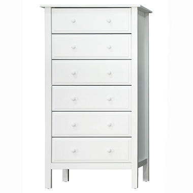Jayden 6-Drawer Dresser, White