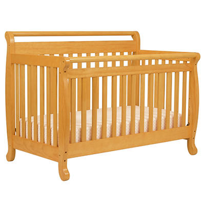 Emily 4-in-1 Convertible Crib with Toddler Rail - Honey Oak