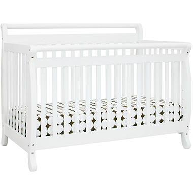 DaVinci Emily 4-in-1 Convertible Crib with Toddler Rail, White