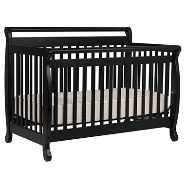 Emily 4-in-1 Convertible Crib with Toddler Rail - Ebony