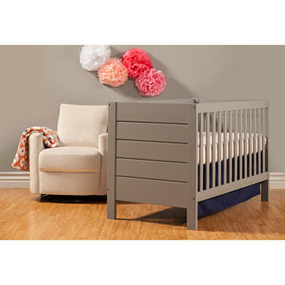 Babymod Modena 3-in-1 Convertible Crib, Gray