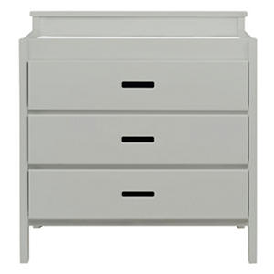Babymod Modena 3-Drawer Changer Dresser, Gray