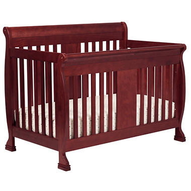 DaVinci Porter 4-in-1 Convertible Crib with Toddler Rail - Cherry