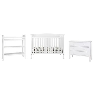 Tyler 5 Piece Nursery Set - White