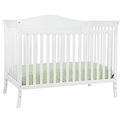 Babymod Bella 4-in-1 Convertible Crib, White