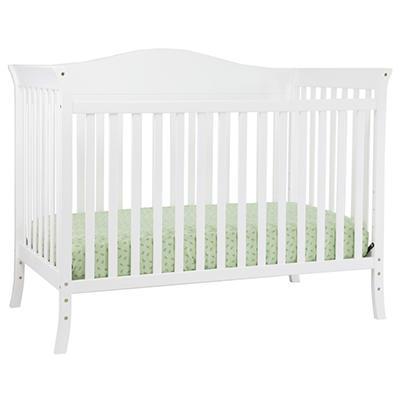 Babymod Bella 4-in-1 Convertible Crib, White