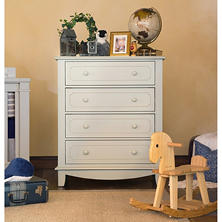 MDB Classic Sullivan 4-Drawer Tall Dresser, Dove Grey