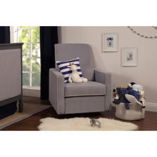 DaVinci Piper Recliner, Grey with Cream Piping