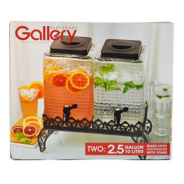DBLE DRINK DISPENSER 10L GLASS