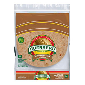 Guerrero Flour Soft Taco 100% Whole Wheat Tortillas (24 ct.)