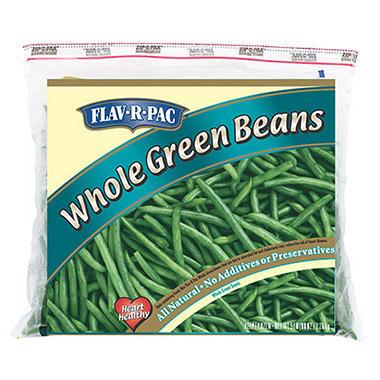 Flav-R-Pac Whole Green Beans - 5 lb. bag
