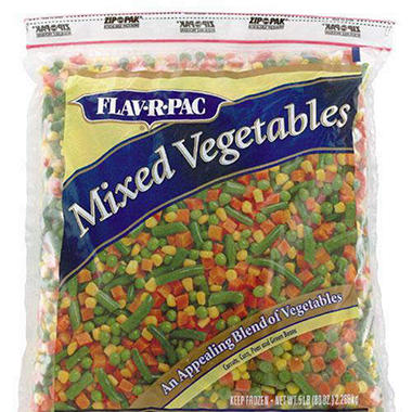 Flav-R-Pac® Mixed Vegetables - 5 lb. bag