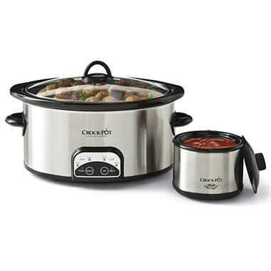 6 Quart Crock-Pot Smart Pot with Travel Bag and 16 oz. Little Dipper