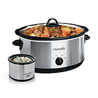 Crock-Pot 8-Quart Manual Slow Cooker with Little Dipper Food Warmer