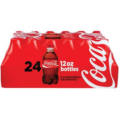 Coke - 12 oz. plastic bottles - 24 pk.