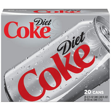Diet Coke (12 oz. cans, 20 pk.)