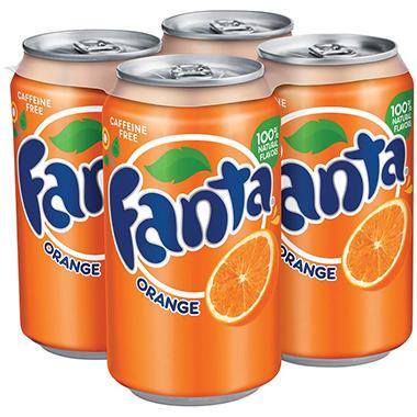 Fanta Orange Soda (12 oz. cans, 4 pk.)