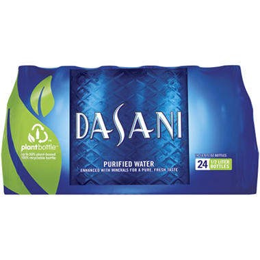 Dasani Purified Water - 16.9 oz. (.5L) Bottles - 24 pk.