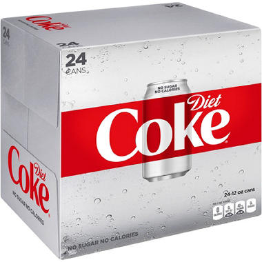 Diet Coke - 12 oz. cans - 24 ct.