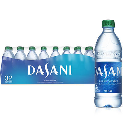 Dasani Bottled Water ( 16.9 oz. PET Bottles, 32 pk.)