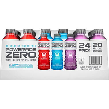 "POWERADE Zero"" 24 / 20 oz. bottles"