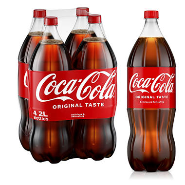 Coca-Cola - 2L bottles - 4 ct.